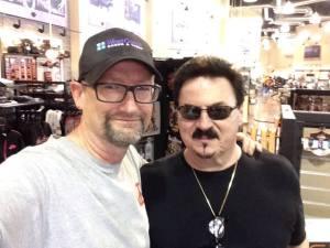 Host Paul Doty (L) with Bobby Kimball